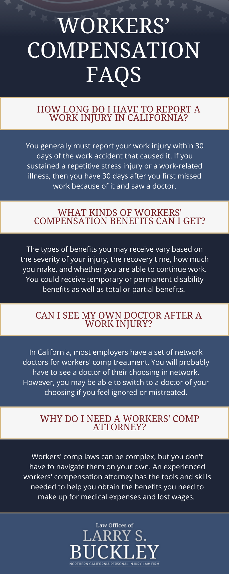 workers' compensation FAQs infographic
