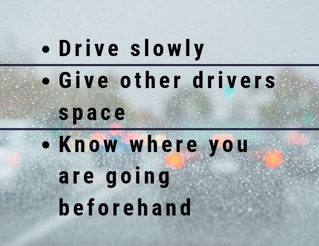 Tips for when driving in the rain